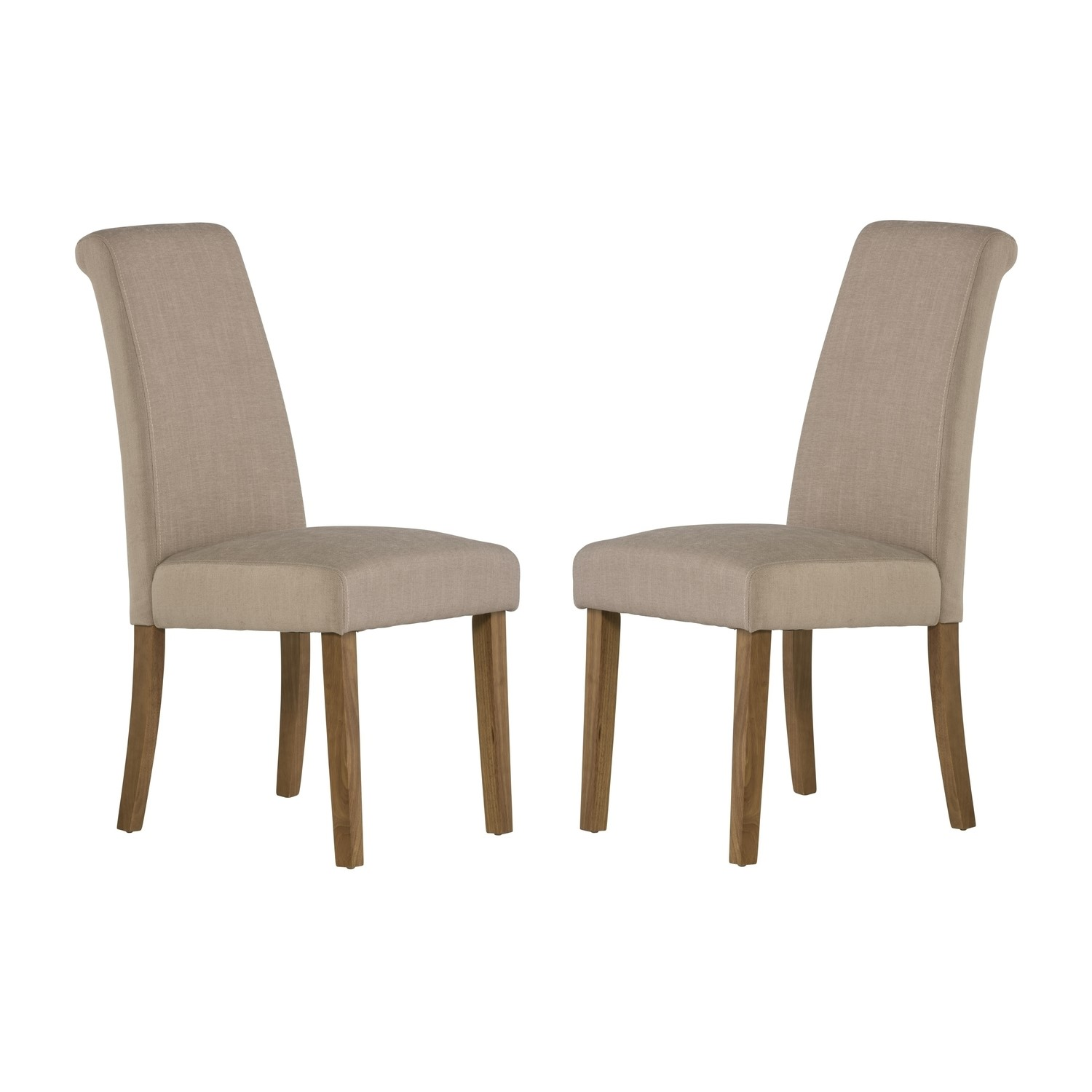 beige dining chairs oxo sprout high chair reviews grade a1 tuscany pair of in fabric furniture123