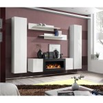 White Floating Wall Mounted Fireplace Neo Furniture123