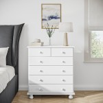 Hamilton 2 4 Chest Of Drawers In White Furniture123