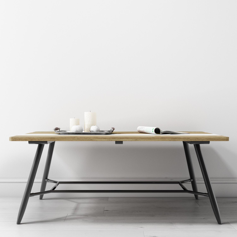 reclaimed wood coffee table with black metal legs kuta