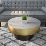 Marble Coffee Table In White With Gold Black Base Martina Furniture123