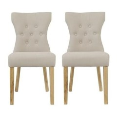 Fabric Dining Chairs Uk Gym Chair Lazada Furniture123 Lpd Naples Pair Of In Beige