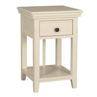 Savannah Bedside Table with Drawer in Ivory/Cream ...