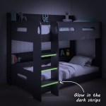 Sky Bunk Bed In Dark Grey Ladder Can Be Fitted Either Side Furniture123