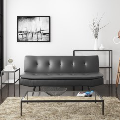 Faux Leather Sofa Bed Uk Recliner For Sale Barker Grey Furniture123 3 Seater Sleeps 2 Sof016