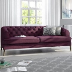 Velvet Chesterfield Sofa Prices Inexpensive Beds Sofas Regular Corner And More Furniture123 Inez Plum Fabric 3 Seater