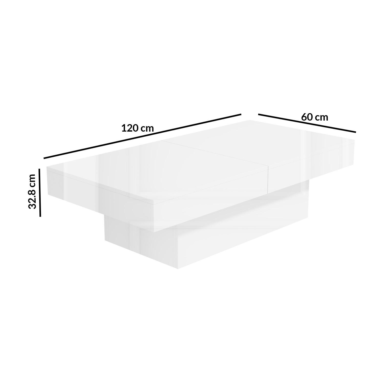 white gloss storage coffee table rectangular tiffany