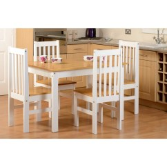 Oak And White Dining Chairs Pvc Pipe Lounge Chair Seconique Ludlow Set In 4 Matching Whds410ow