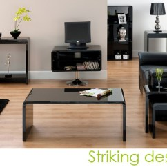 Living Room Furniture Black Gloss White Slipcovered Sofa World Toscana Console Table In High Furniture123 Set