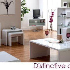White Gloss Living Room Furniture Beach Paint Colors For World Toscana High Nest Of Tables In Set