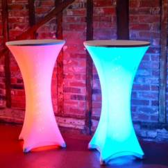 Led Table And Chairs The Emperor Chair Spandex Illuminated Poseur Furniture4events