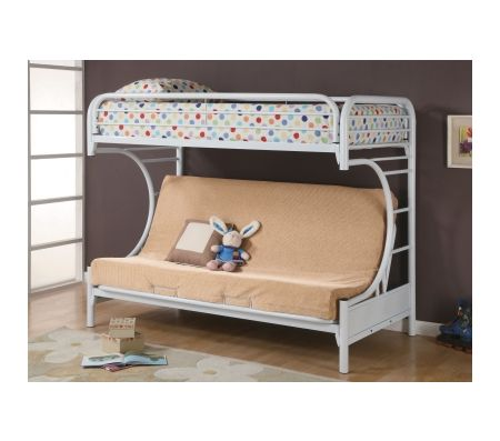 Fordham Collection Youth Bunk Bed in White  Bunk Beds  Loft Beds  Kids  Youth Furniture