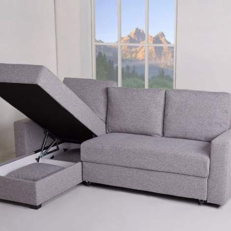 aspen convertible sectional storage sofa bed power motion duo recliner in ash sectionals