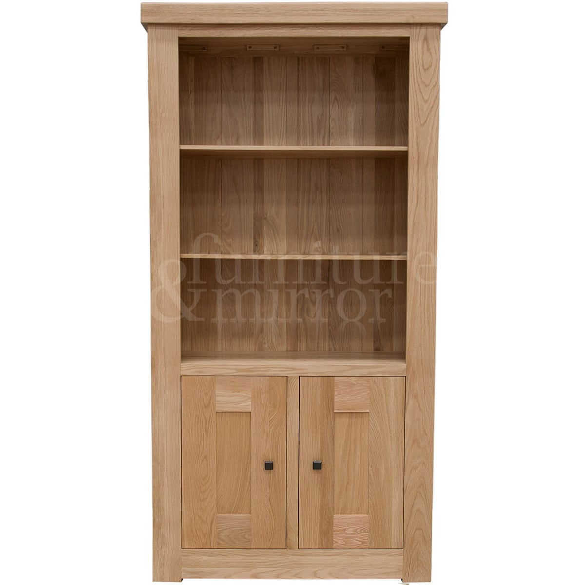 Chunky Two Door Solid Oak Bookcase