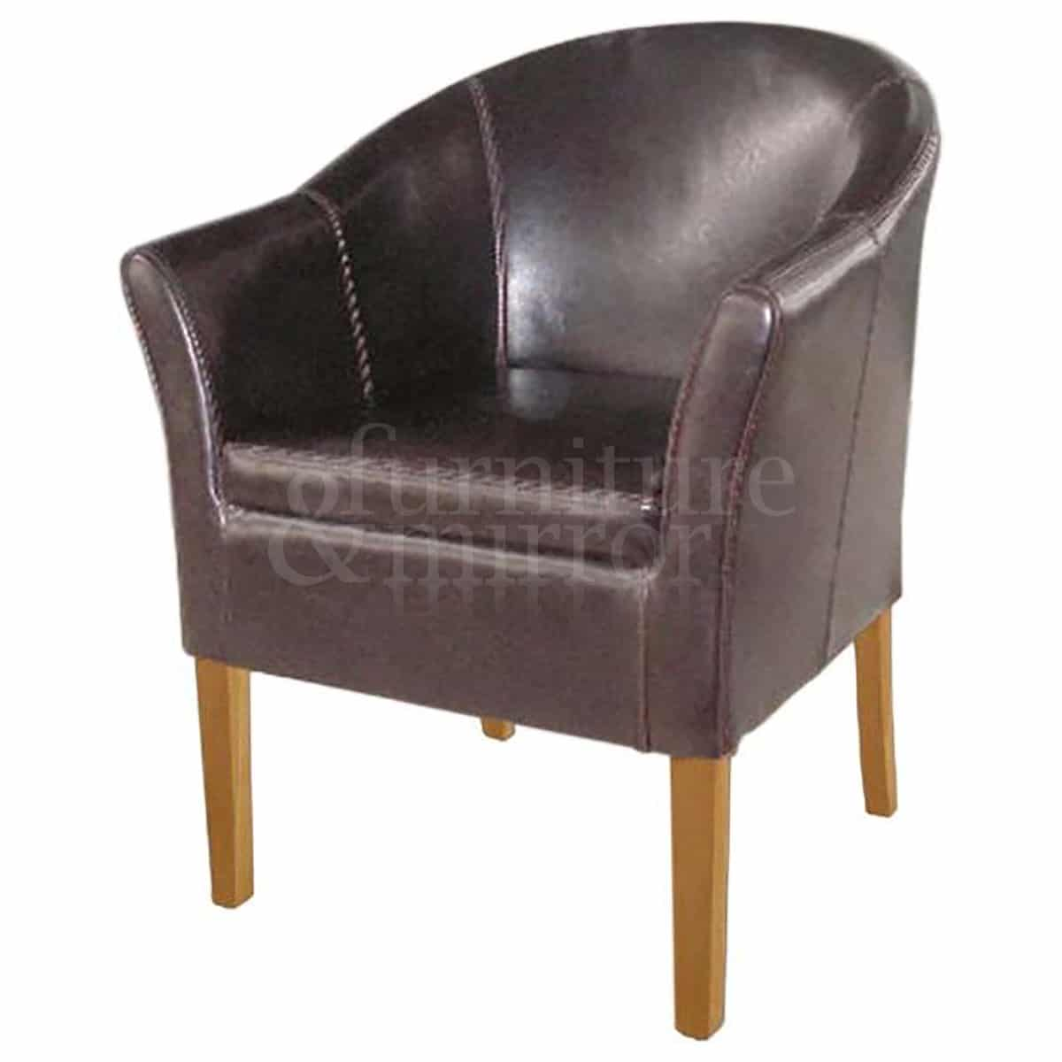 tub chair brown leather office carpet protector furniture and mirror