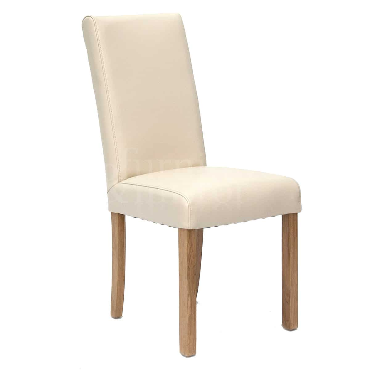 Ivory Dining Chairs Marina Ivory Oak Leather Dining Chair Furniture And Mirror