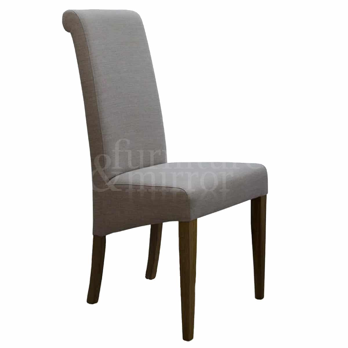 beige dining chairs foldable aluminum sports chair napoli fabric furniture and mirror