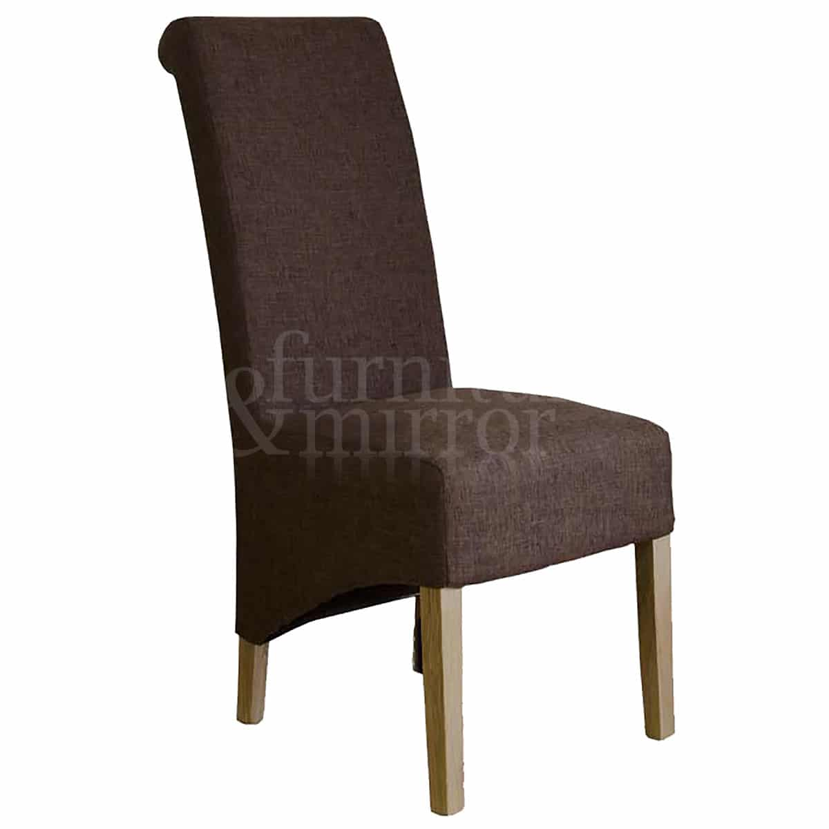 Tweed Chair Rollback Tweed Fabric Dining Chair Furniture And Mirror