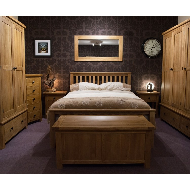 Rustic 4 6 Double Bed Furniture And Mirror
