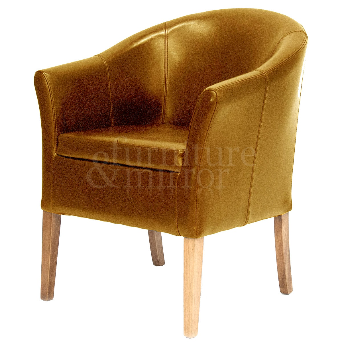 leather tub chair valkönen hanging tan furniture and mirror