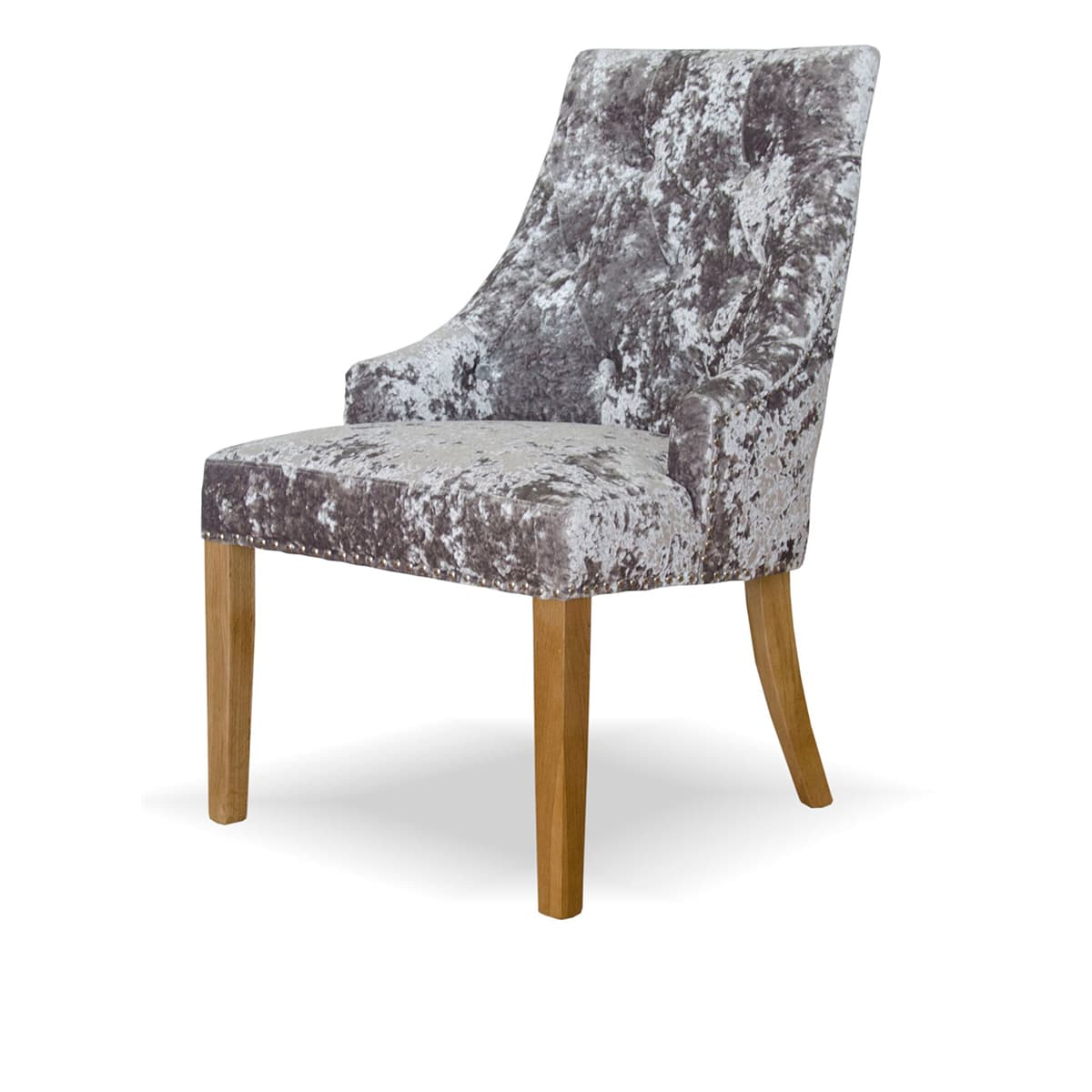 Silver Dining Chairs Willow Crushed Silver Velvet Dining Chair Furniture And