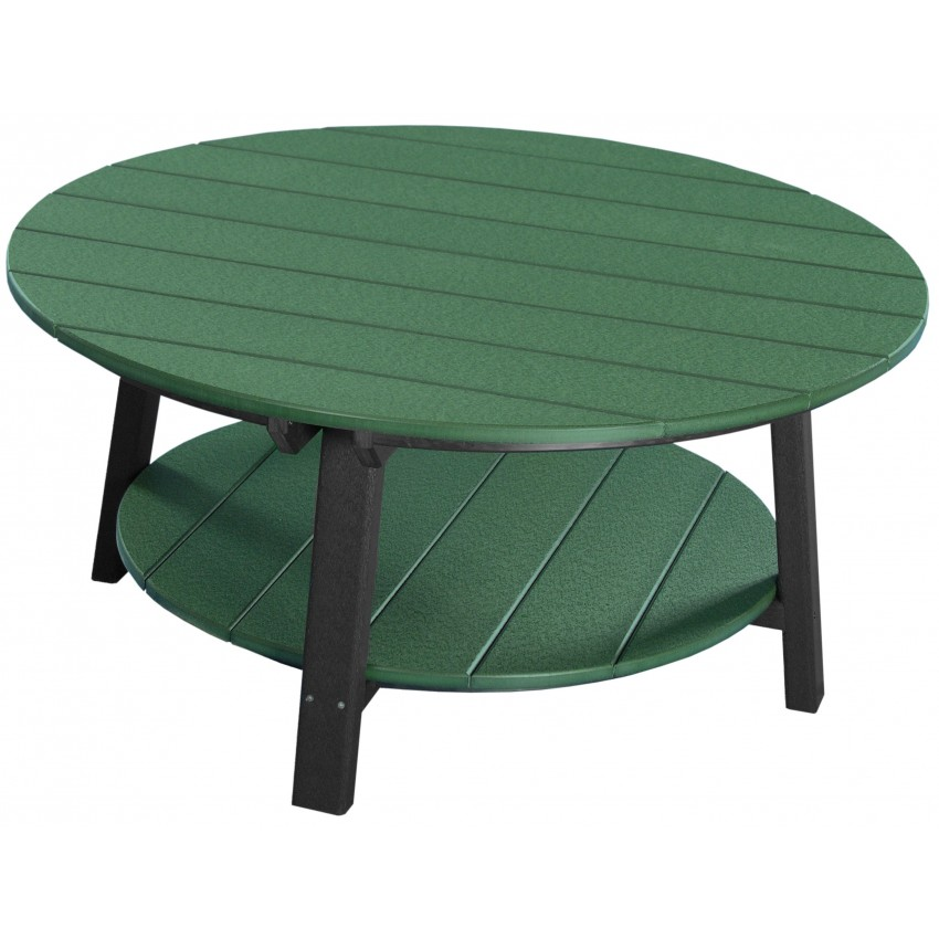 Outdoor Poly Deluxe Round Conversation  Coffee Table