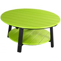 Outdoor Poly Deluxe Round Conversation / Coffee Table ...