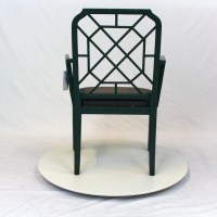 Hollywood Regency Chippendale Bamboo Rattan Chair ...