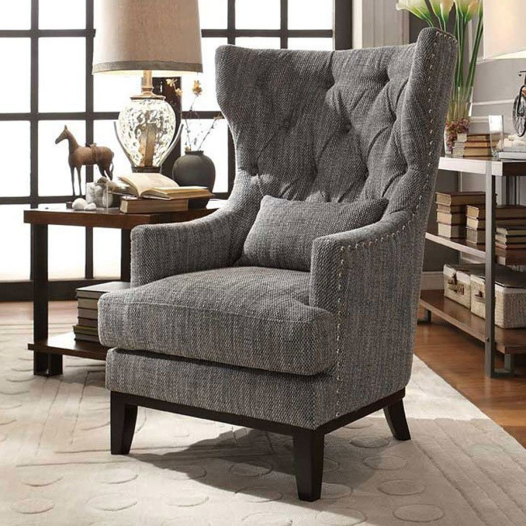 Pillow Chairs Adriano Accent Chair W Kidney Pillow Homelegance