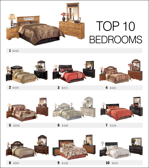 Top 10 Bedroom Sets by Ashley Furniture Spring 2013
