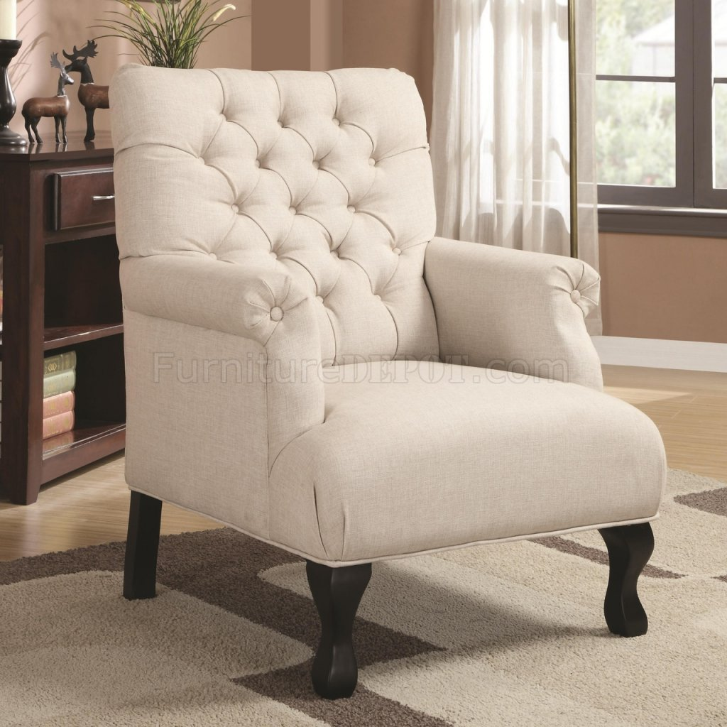 Set Of Accent Chairs 902177 Accent Chair Set Of 2 In Oatmeal Fabric By Coaster