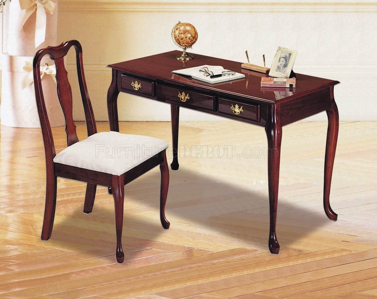 Home Office Desk Chair Cherry Finish Classic Home Office Desk W Chair