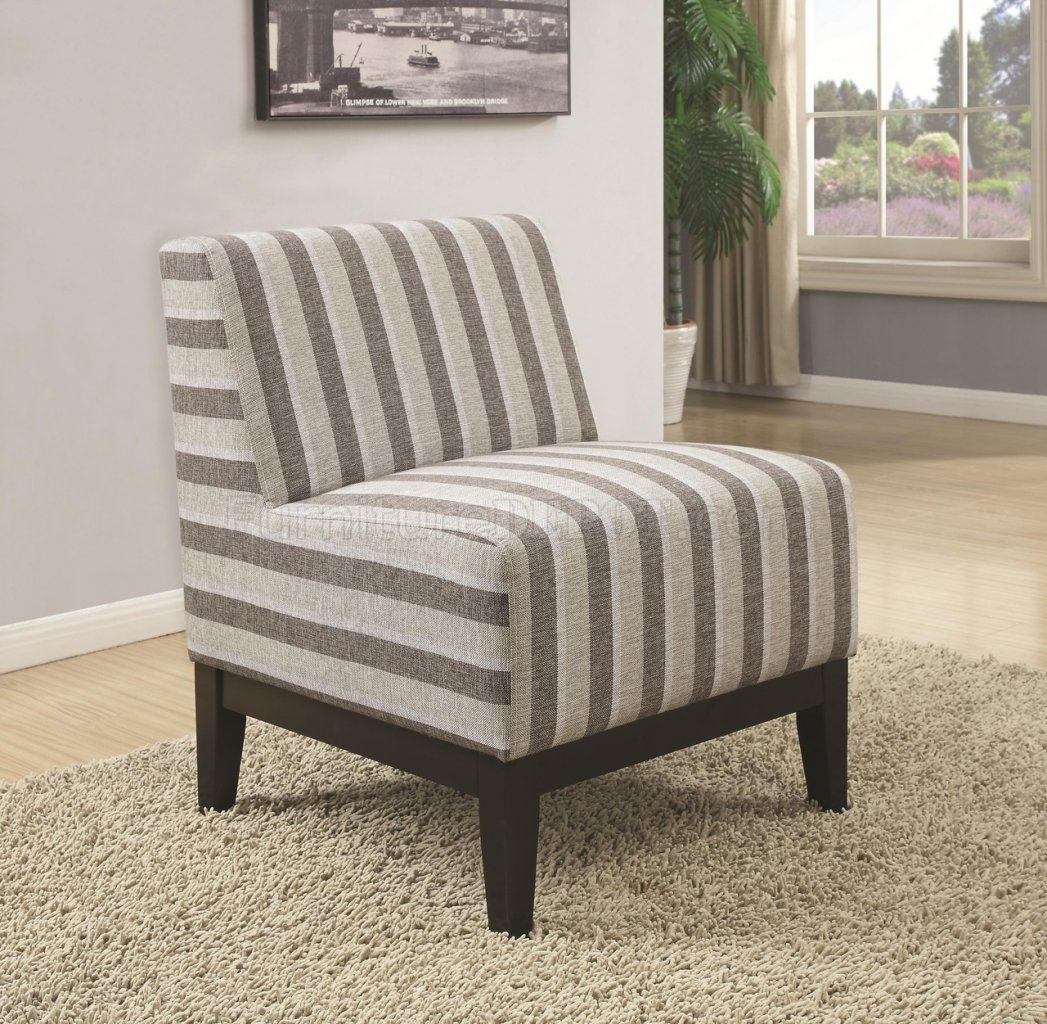 Set Of Accent Chairs 902610 Accent Chair Set Of 2 In Striped Fabric By Coaster
