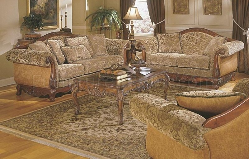 Barcelona 8299F 4Pc Sofa Set In Floral Chenille By Homelegance
