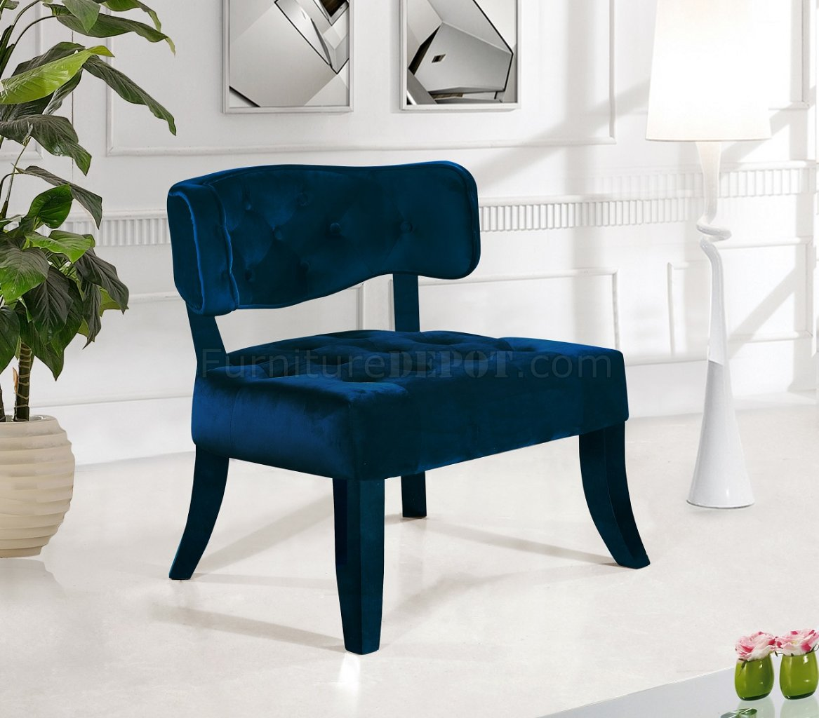 Navy Accent Chair Charlotte Navy Accent Chair 545 In Velvet By Meridian