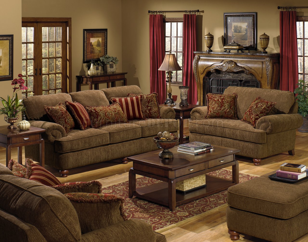 Large Living Room Chairs Amber Fabric Modern 4347 Belmont Sofa And Loveseat Sofa W