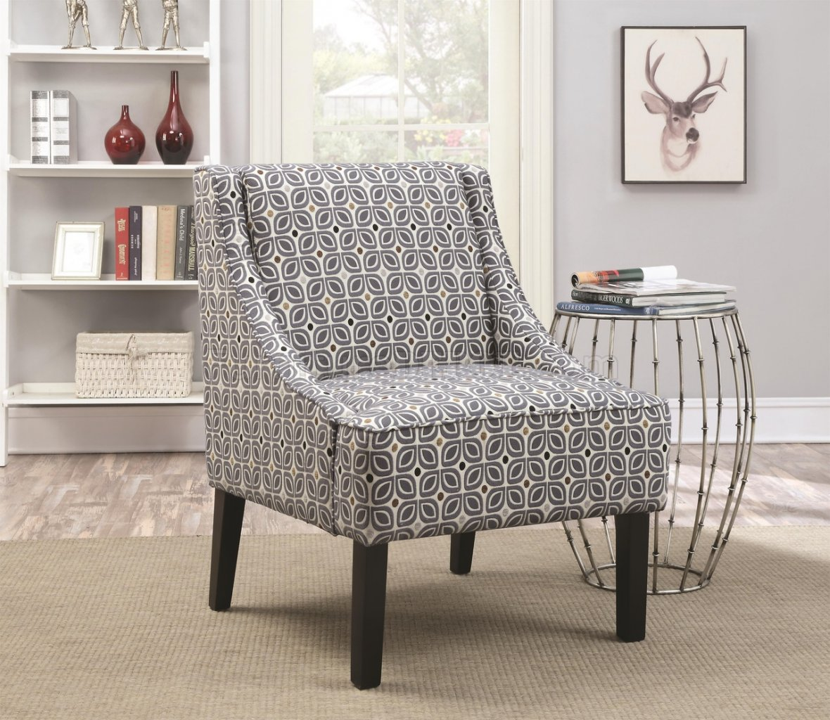 Set Of Accent Chairs 902604 Accent Chair Set Of 2 In Fabric By Coaster