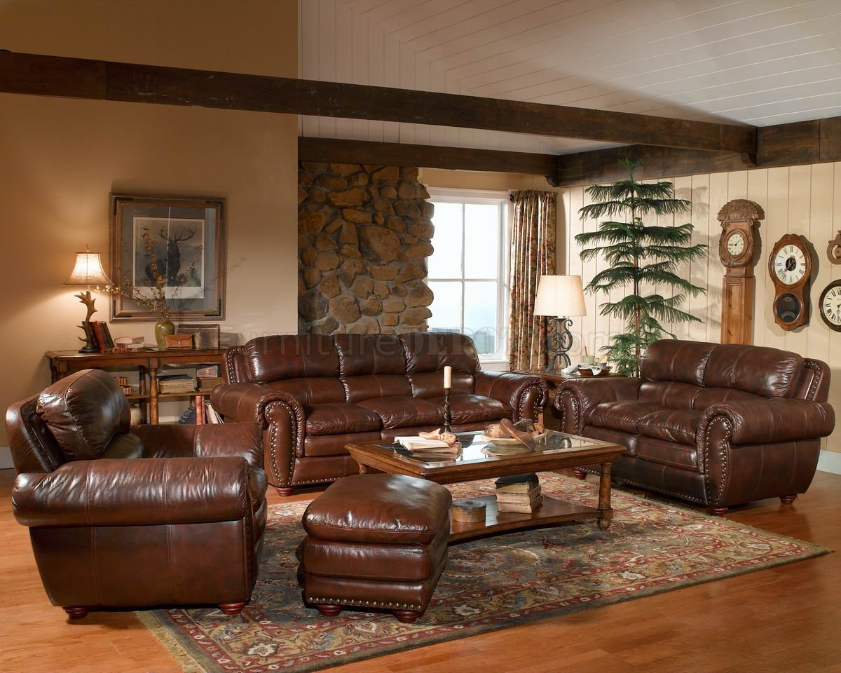 Leather Living Room Chair Leather Italia Aspen Brown Sofa And Loveseat Set W Options