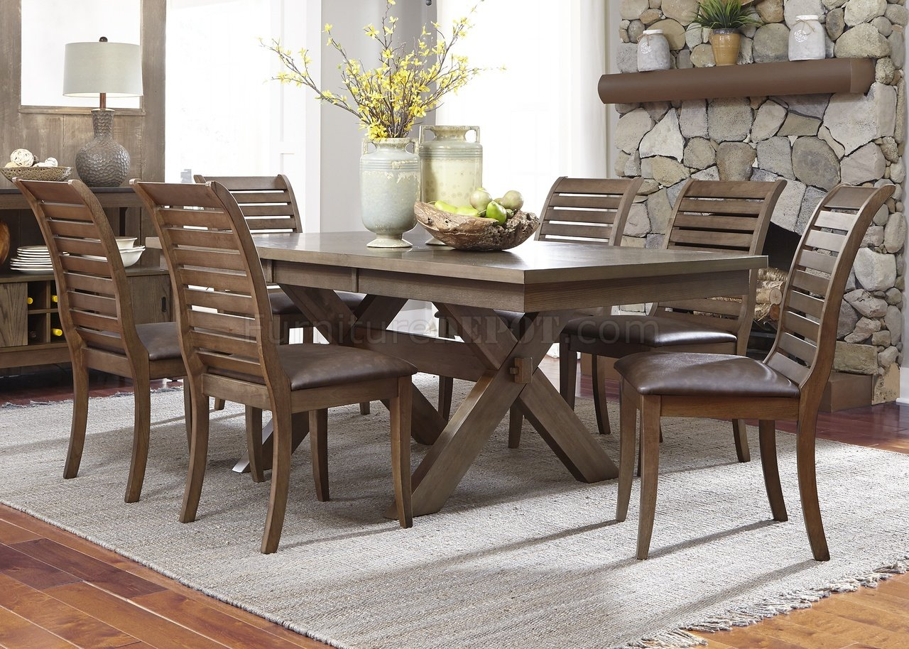 Bayside Office Chair Bayside Crossing Dining Table 5pc Set 185 Cd Chestnut By