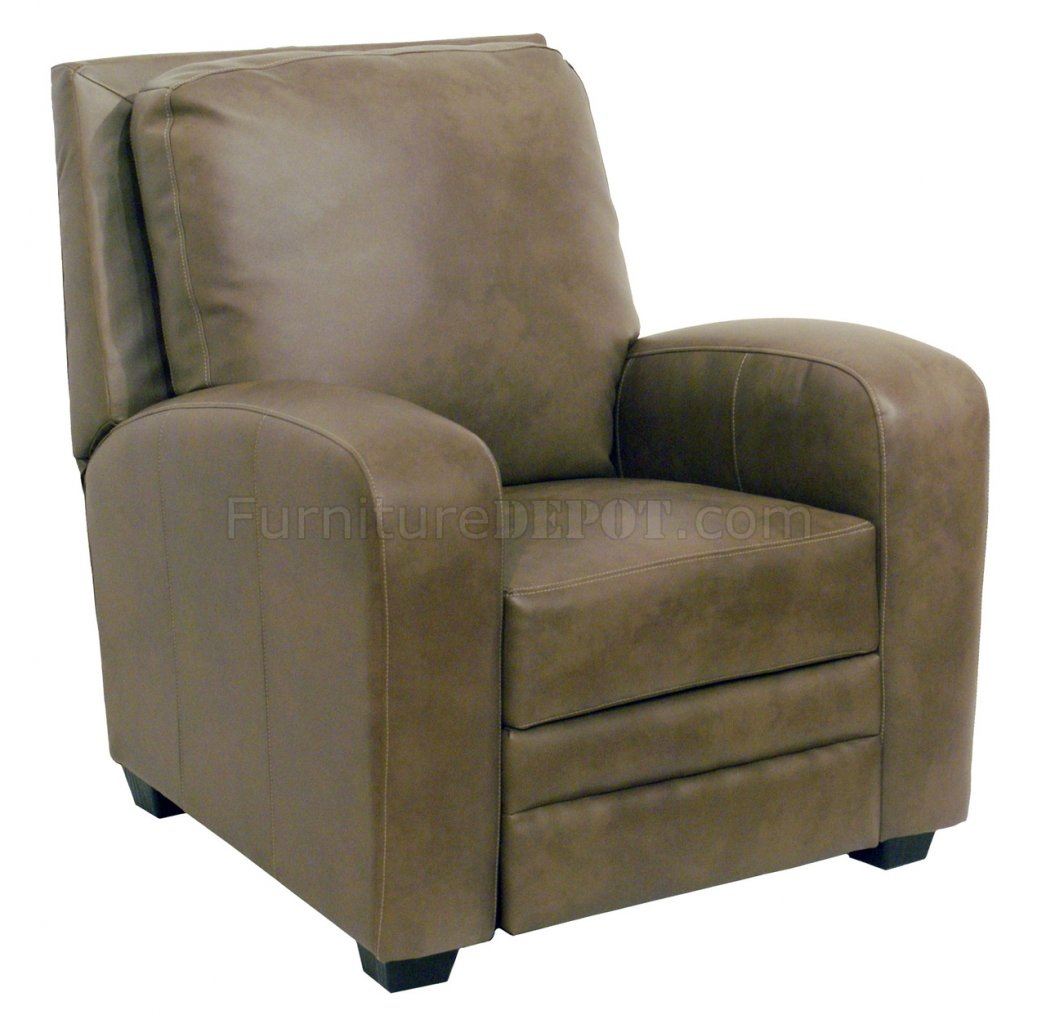 Modern Recliner Chairs Mink Bonded Leather Avanti Modern Reclining Chair