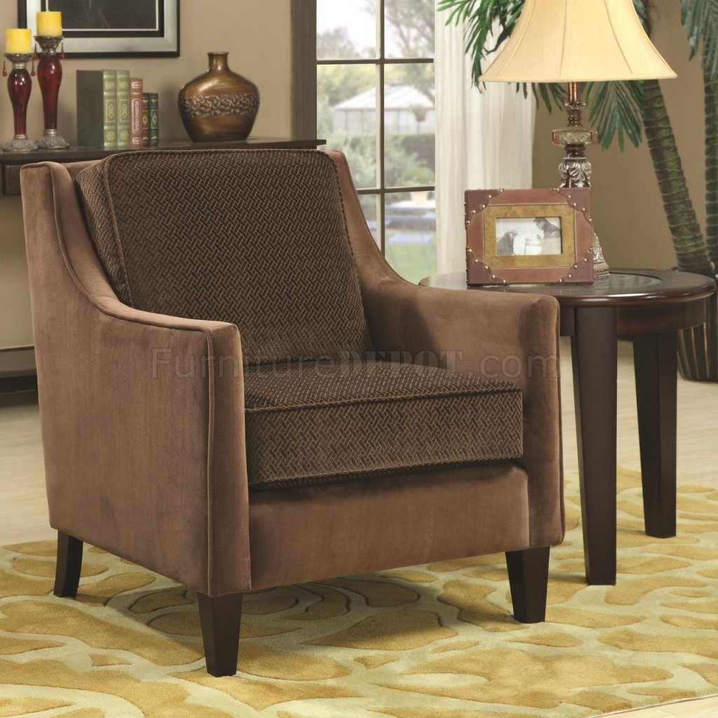 Set Of Accent Chairs 902043 Accent Chair Set Of 2 In Brown Fabric By Coaster