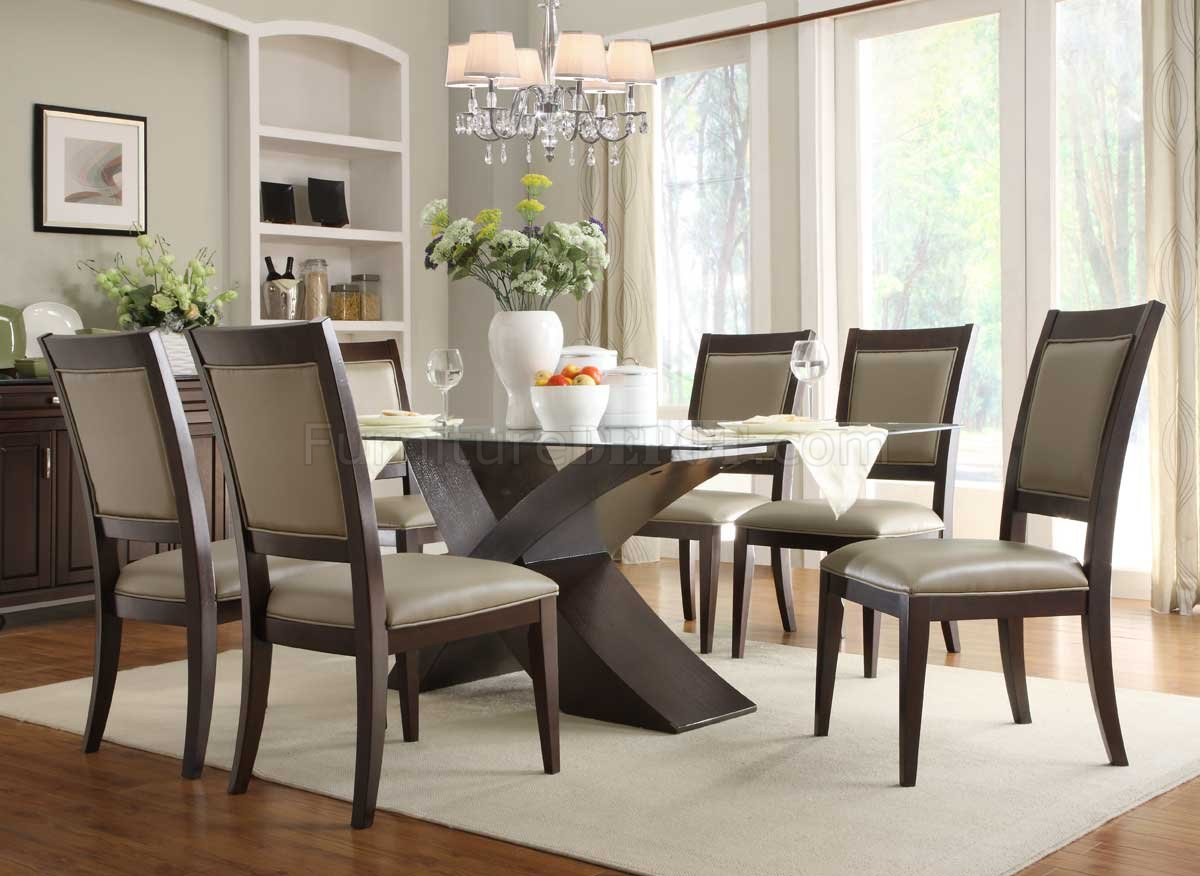 Dining Room Table With Chairs 2468 72 Bering Dining Table By Homelegance In Espresso W