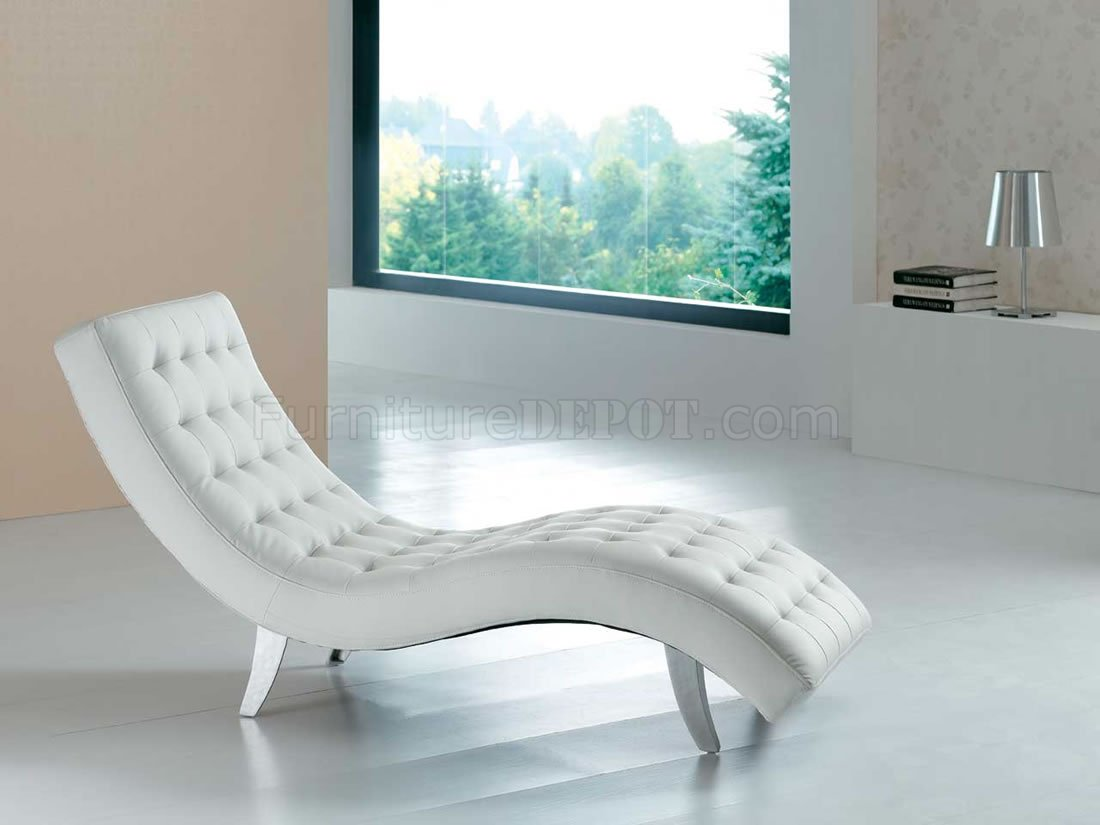 White Lounge Chairs White Red Brown Beige Or Black Vinyl Modern Chaise Lounger