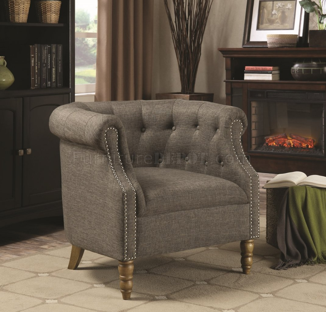 Set Of Accent Chairs 902696 Accent Chair Set Of 2 In Grey Fabric By Coaster