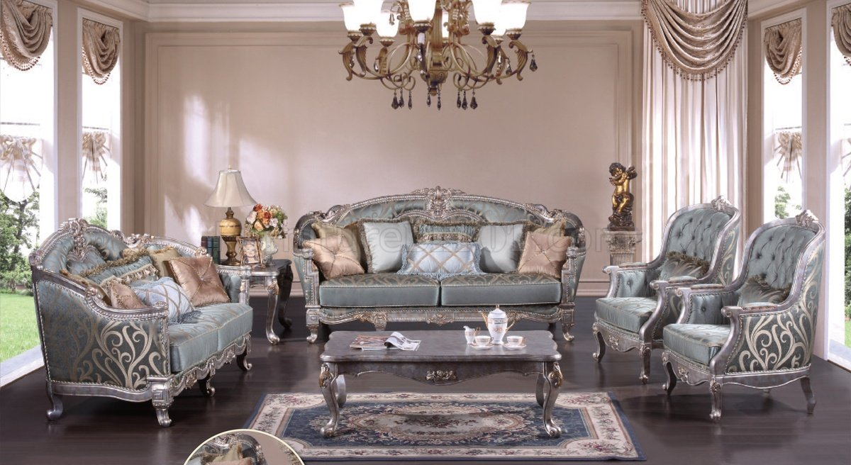 End Tables Sets For Living Room Zara Silver Traditional Sofa In Fabric W/optional Items