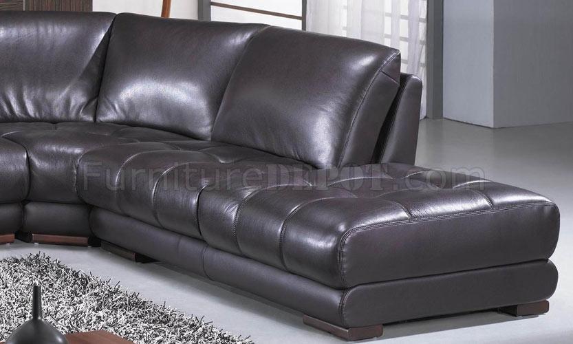 Richmond Dark Espresso Leather Sectional Sofa By Vig
