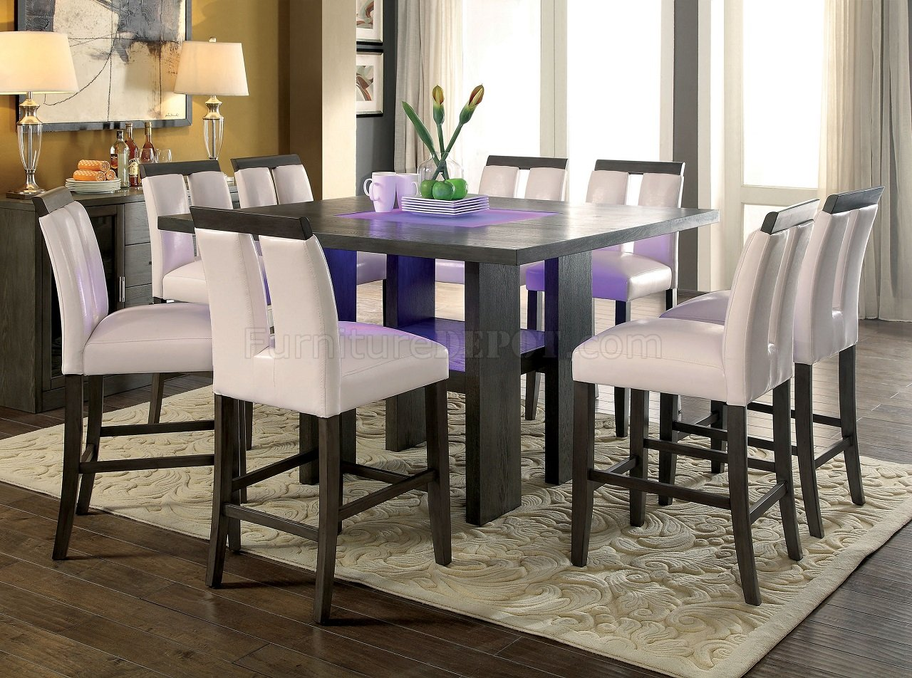 Luminar II CM3559GY-PT Counter Height Dining Table W/LED