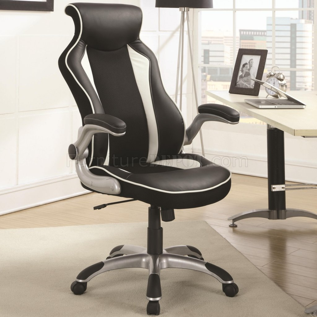 Chair Coasters 800048 Office Chair In Black Vinyl By Coaster