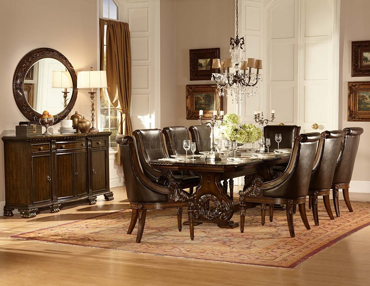 Orleans Dining Table Cherry By Homelegance