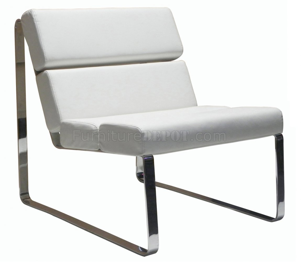 White Lounge Chairs Angel Chair In White Leatherette By Whiteline Imports
